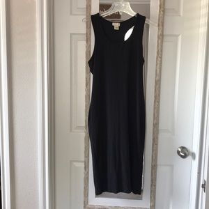 Black maxi fitting dress